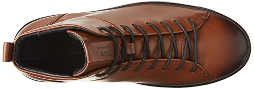 ECCO Soft 8 Mens, Sneaker a Collo Alto Uomo Marrone (Lion)