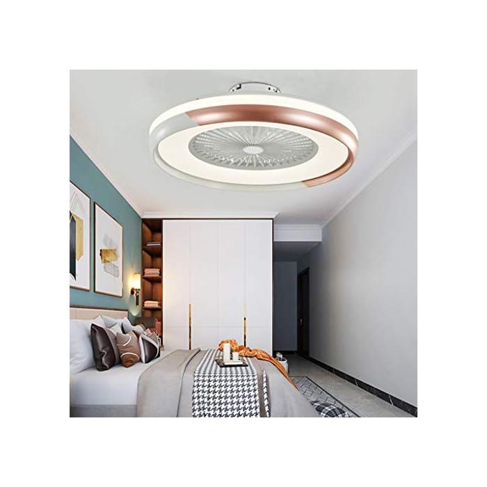 41ZQomY4%2BcL ✔ El ventilador es muy silencioso ✔ Para el ventilador utilizado en el dormitorio, puede configurar tres velocidades de viento diferentes utilizando el control remoto inteligente. La luz del ventilador tiene un deflector ajustable. Puede usar el control remoto incluido para controlar. Se puede instalar en un techo inclinado. Muy solido y confiable ✔ Material ✔ Pantalla de acrílico transparente alta, temperatura dura y alta, carcasa de pintura mate, aspas de ventilador ABS duraderas y transparentes, todos los motores de cobre, permiten que la lámpara del ventilador funcione de manera suave y silenciosa, 40 W, diámetro 50 cm, Peso neto: 4,6 KG ✔ Fuente de luz LED de alta calidad ✔ Nueva fuente de luz de lente LED, luz suave, sin deslumbramiento, sin interferencia de alta frecuencia, sin observación estroboscópica, por lo que puede proteger los ojos y el cerebro, ahorrar energía en más del 80%, brillo suficiente, baja potencia