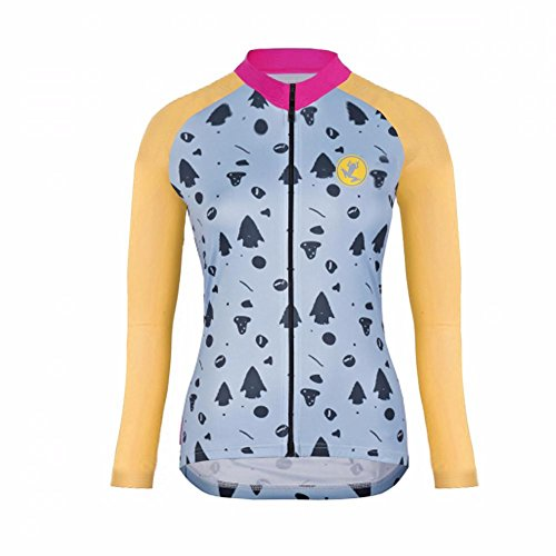 Cálido Último Mujer Moda Ropa Completa Largas Uglyfrog Color Deportiva Maillots 05 Warm Transpirable Mangas Winter Cremallera Ciclismo 7qwBxdp5F