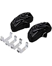 Cap Rack,Hat and Bag Racks Organizer - Best Over Door Closet Organizer for Men, Boy or Women Hat Collections - Display Racks with Clips, Perfect Holder and Storage (Pack 2) - Black