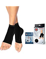 Doctor Developed Copper Infused Foot Sleeves - Plantar Fasciitis Socks [PAIR] and Doctor Written Handbook - Excellent Customer Support - Guaranteed Relief for Plantar fasciitis, Heel Support & Ankle Conditions (Black, M)