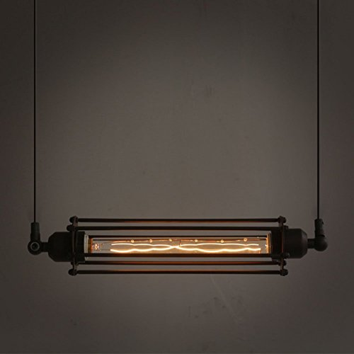 Ivalue Vintage Industrial Hanging Light Edison Cage Pendant Light Fixture For Kitchen Island Bar Lantern Black (black) (Pendant Light Fixtures For Kitchen)