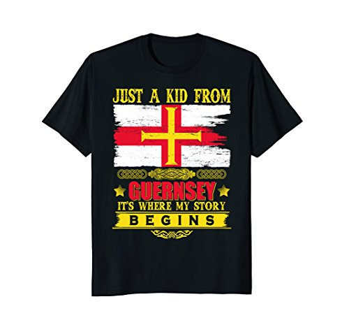 Just a kid from Guernsey T-Shirt - Map Jersey Guernsey