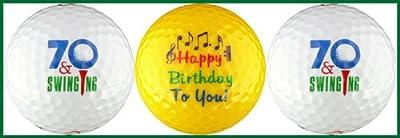 Seventy & Swinging Birthday Golf Ball Gift Set