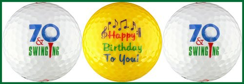 Seventy & Swinging Birthday Golf Ball Gift Set