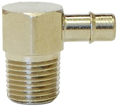 """MettleAir ID 1/8""""NPT Male Single Barb Hose/Tubing Fitting Elbow L Connector, Nickel Plated"""
