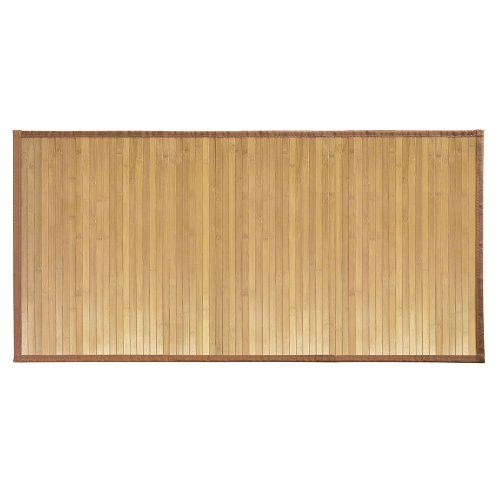 "InterDesign 81232 Bamboo Floor Mat – Ideal Mat for Kitchens, Bathrooms or Offices - 24"" x 48"", Natural"