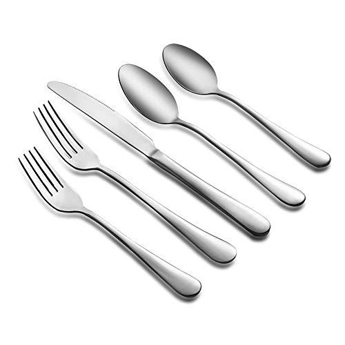20 Piece Silverware Flatware Cutlery Set Stainless Steel Tableware Dinnerware Mirror Polished Kitchen Utensil Set…