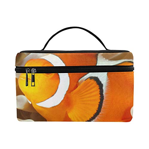 (Clown Fish Anemone And Clown Pattern Lunch Box Tote Bag Lunch Holder Insulated Lunch Cooler Bag For Women/men/picnic/boating/beach/fishing/school/work)