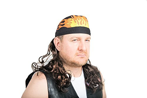 The Fury Mullet Wig Skull Cap