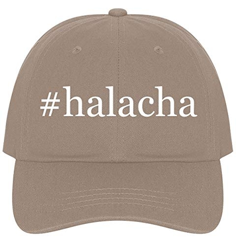 The Town Butler #Halacha - A Nice Comfortable Adjustable Hashtag Dad Hat Cap, Khaki, One Size