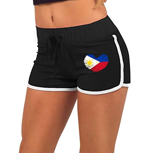 (Women's Sexy Booty Shorts Philippines Flag in Heart Shape Low Waist Bike Fitness Running Tight Pants)