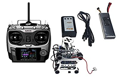 QWinOut Assembled HMF S550 F550 Upgrade RTF Kit with Landing Gear & APM 2.8 Flight Controller GPS Compass & Gimbal (Assembled, without Manual) by QWinOut