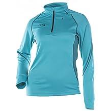 Divas SnowGear Women's DSG Tech Shirt (Blue, X-Small)