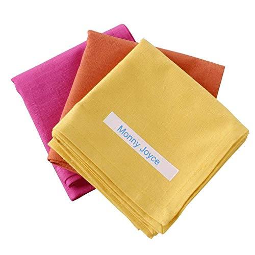 Unistar Nastro per Etichette Iron on Fabric Label Tape per Brother P-touch Tessuto TZFA3 TZeFA3 Blu su Bianco 12 mm x 3m