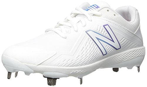 New Balance Women's FUSEV1 Metal Fast Pitch Softball Baseball Shoe, White, 10 B US by New Balance