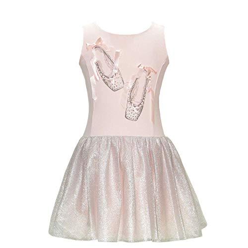 Kate Mack Biscotti Girls Ballerina Tutu Dress, Pink/Metallic, Size Large (6X/7) -