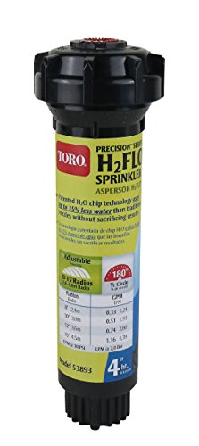 Toro 53893 Precision H2FLO 4-Inch Sprinkler Pop Up with Nozzle, Half ()