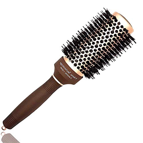 - Professional Round Hair Brush with Boar Bristles, Nano Thermal Ceramic & Ionic Tech, Best Roller Hairbrush for Blow Drying, Styling, Curling &Straightening, Perfect Volume & Shine (Barrel 2 Inch)