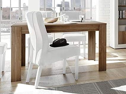 Arredocasagmb Tavolo Allungabile Moderno 6 8 Posti Legno Noce L 140 Soggiorno Moderno Sala Design Urbe 140 Amazon It Casa E Cucina