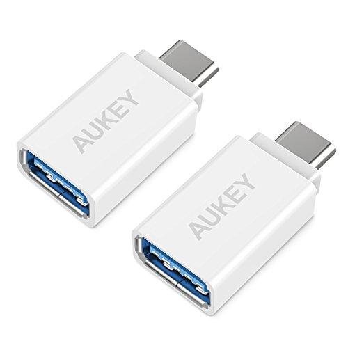 AUKEY USB C Adapter, [ 2 Stücke ] USB C auf USB 3.0 A Adapter für MacBook Pro...