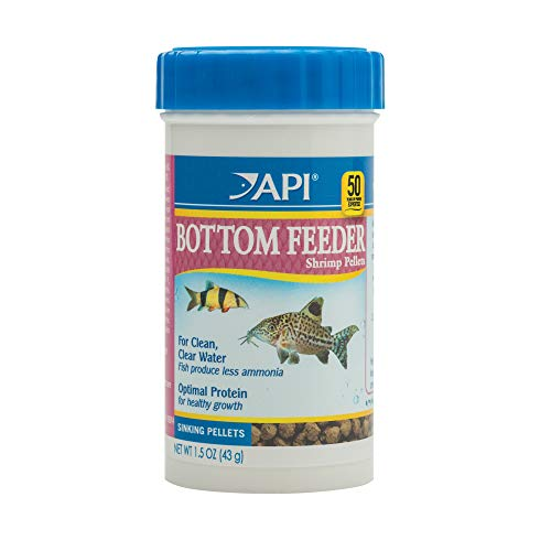 API BOTTOM FEEDER PELLETS WITH SHRIMP Fish Food 1.5-Ounce Container