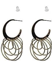 IKBEN Earrings for women, multi size and multi hoop earrings, silver color