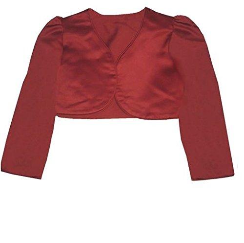 New Fashion festliche langarm Mä dchen Bolero/KommunionJä ckchen/FREIZEIT BLAZER/Bordeaux/GR:68-180