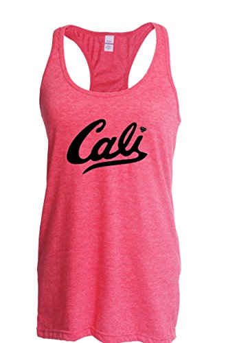 Mom's Favorite California Tank Top Cali In Black Home Of Los Angeles Hollywood Santa Monica CA Womens Tops Next Level Racerback