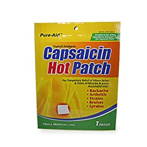 Amazon.com: Pure Aid Capsaicin Hot Patch 6 Pac: Health