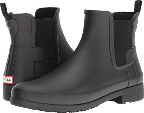 Hunter Boot Women's Original Refined Chelsea Rain Boot Black 8 M US by Hunter