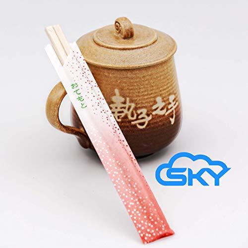 (Sky Premium Disposable Bamboo Chopsticks, bulk, UV treated, splinter free, separated, individually wrapped, good for Chinese, Japanese, Vietnamese, Korean, Thai, sushi, pho(100 Pairs, Jade Green))