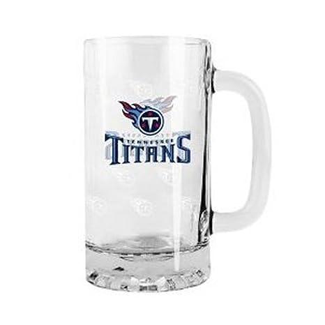 2015 NFL Football Tankard Beer Mug - 16 Ounce Glass Mug