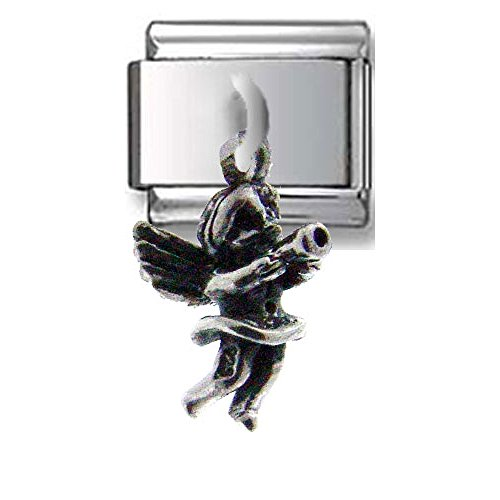 - Little Angel Dangle Silver Italian Charm