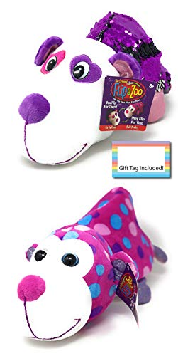 FlipaZoo Flipquins Plush Toys, Animals Sequined Reversible Plush, Stuffed Plush, Gift Ideas for Kids, Unique Christmas, Children Birthday Gift Ideas (GuGu Panda to Mabli Monkey)