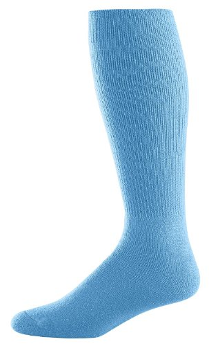 Athletic Socks - Youth Size 7-9, Color: Columbia Blue, Size: 7 - 9 by Augusta Sportswear