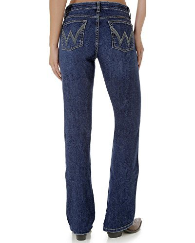 - Wrangler Women's Q- Mid Rise Ultimate Riding Jeans Indigo 0W x 36L