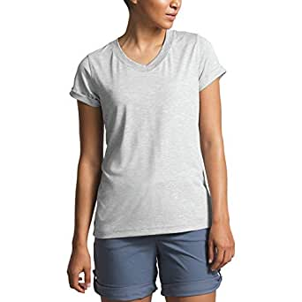 The North Face Women's HyperLayer FD Short Sleeve V-Neck - Gray - X-Small