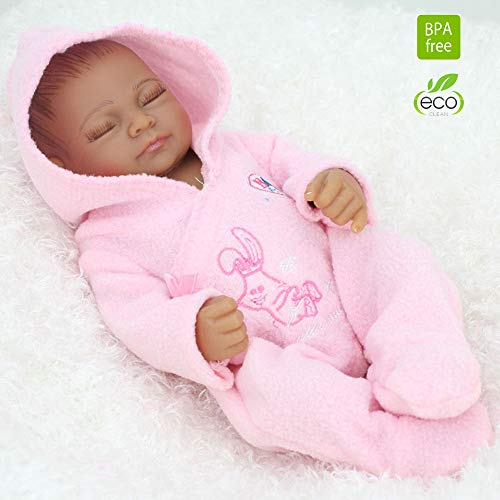 SecretCastle Reborn Dolls Full Body Silicone Girl Soft Body Baby Doll Pink Girl28cm