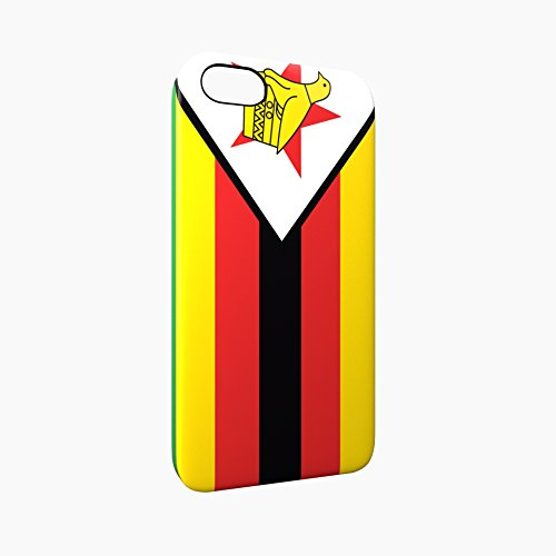 Flag of Zimbabwe Glossy Hard Snap-On Protective iPhone 5 / 5S / SE Case Cover