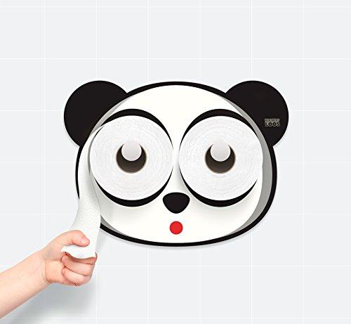 KooKooPandy - Bath Time - Potty Training - Panda - Toilet Paper Holder - Bathroom Decoration ()