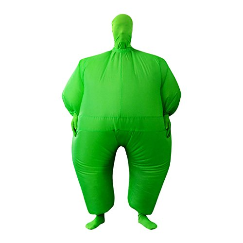 Sheface Inflatable Full Body Suit Costume (One Size, Green)