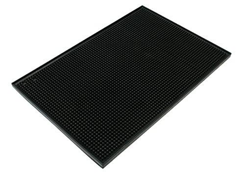 Excellante 849851004849 Plastic Bar Servicing Mat, 12'' x 18'', Black by K & D Collection
