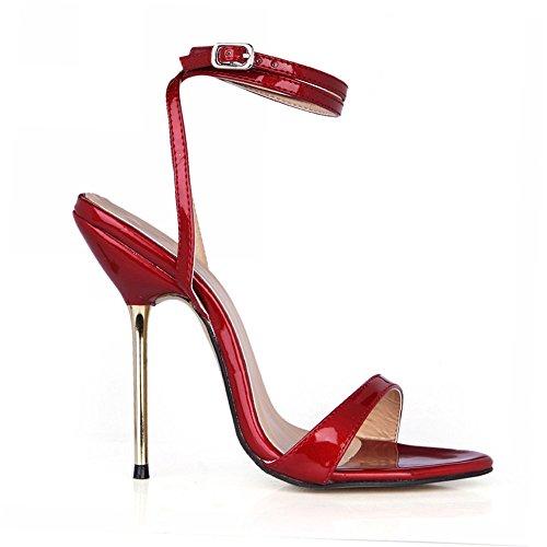 Nocturna El heel Hierro Red La Wine Shoes Finos De Mostrar Femenino Sandalias Banquetes Alto Vida Con wCEqZ8a