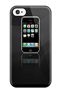 Iphone 4/4s Case Cover - Slim Fit Tpu Protector Shock Absorbent Case (iphone)
