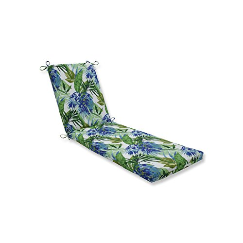Pillow Perfect Outdoor/Indoor Soleil Blue/Green Chaise Lounge Cushion 80x23x3