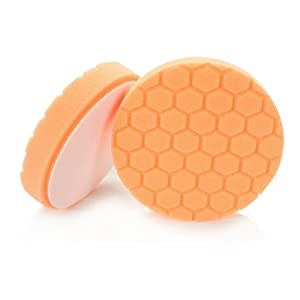 Chemical Guys BUFX_102_HEX5 Hex-Logic Medium-Heavy Cutting Pad, Orange (5.5 Inch)