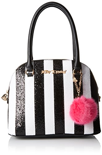 Betsey Johnson Candy Cane Top Handle Handbag,Stripe