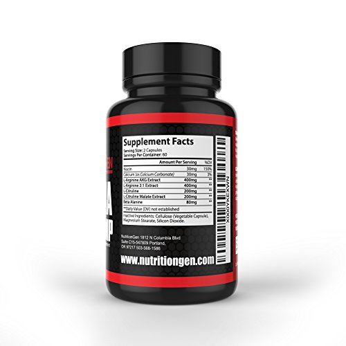 """NO Ultra Muscle Pump: Best Nitric Oxide Supplement - Speed Recovery - Improve Circulation - Build Muscle - 90 Day """"No Quibble"""" Guarantee"""