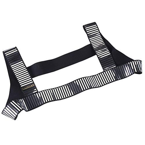 4c50919395b IYUNYI Men s Nylon Camouflage Rivet Chest Body Harness Belt Straps Club  Wear Costume (Silver Striped)